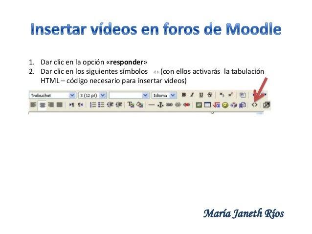 Insertar videos en foros de Moodle