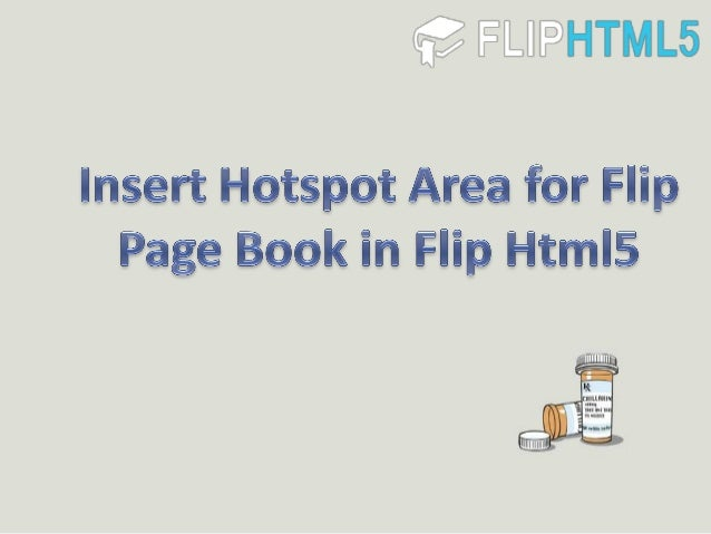 Insert hotspot area for flip page book in flip html5