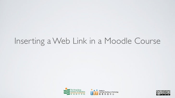Inserting a Web Link in a Moodle Course