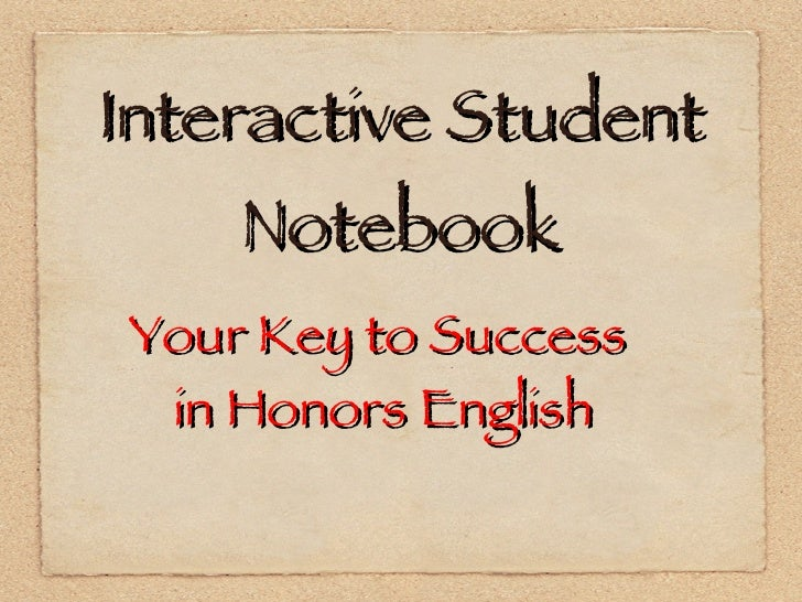 Interactive Notebook for English