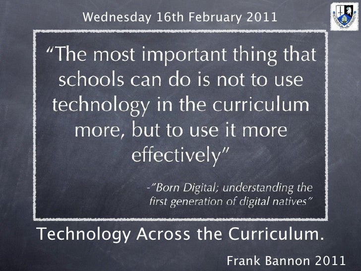 Technology Across the Curriculum