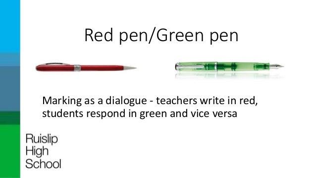 Green Pen Marking Red Pen/green Pen Marking as a