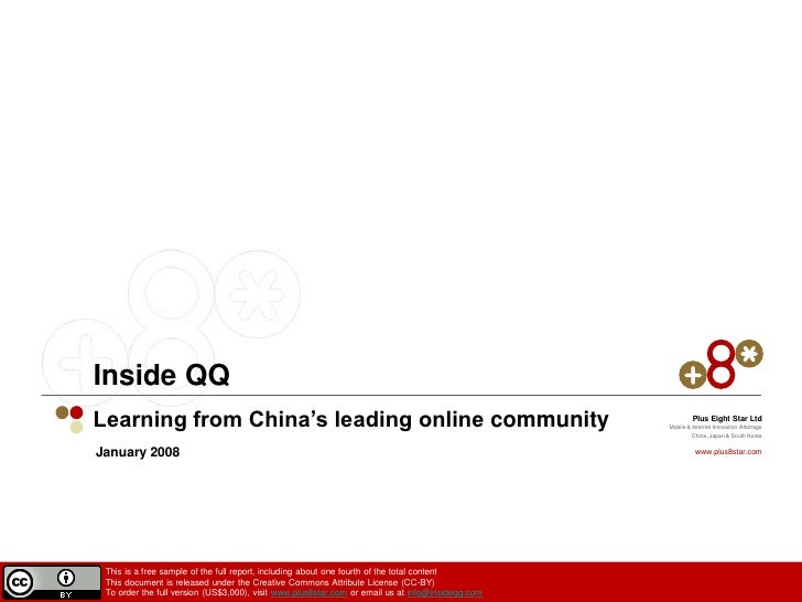 Inside QQ-- A Quarter Of The Complete Report
