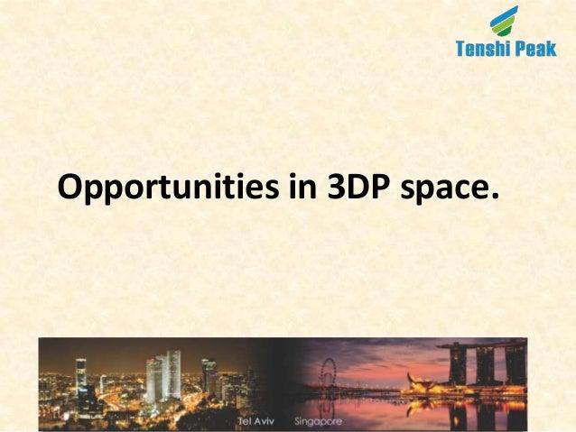 Opportunities in 3DP space.