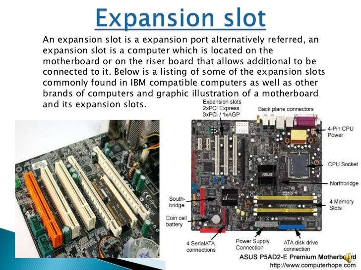 Expansion slots desktop