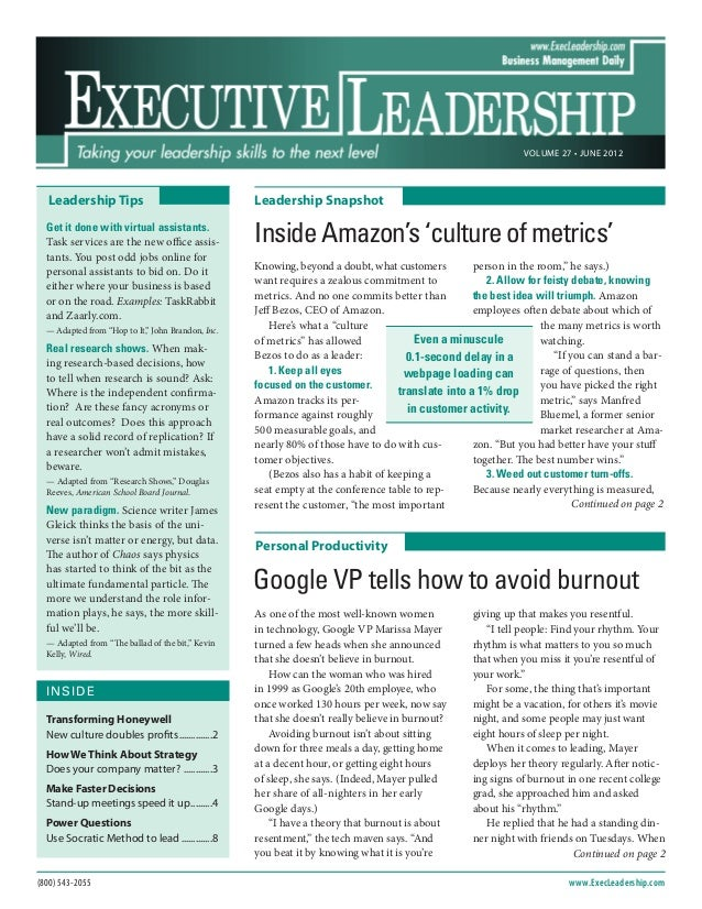 Inside amazon's 'culture of metrics'.