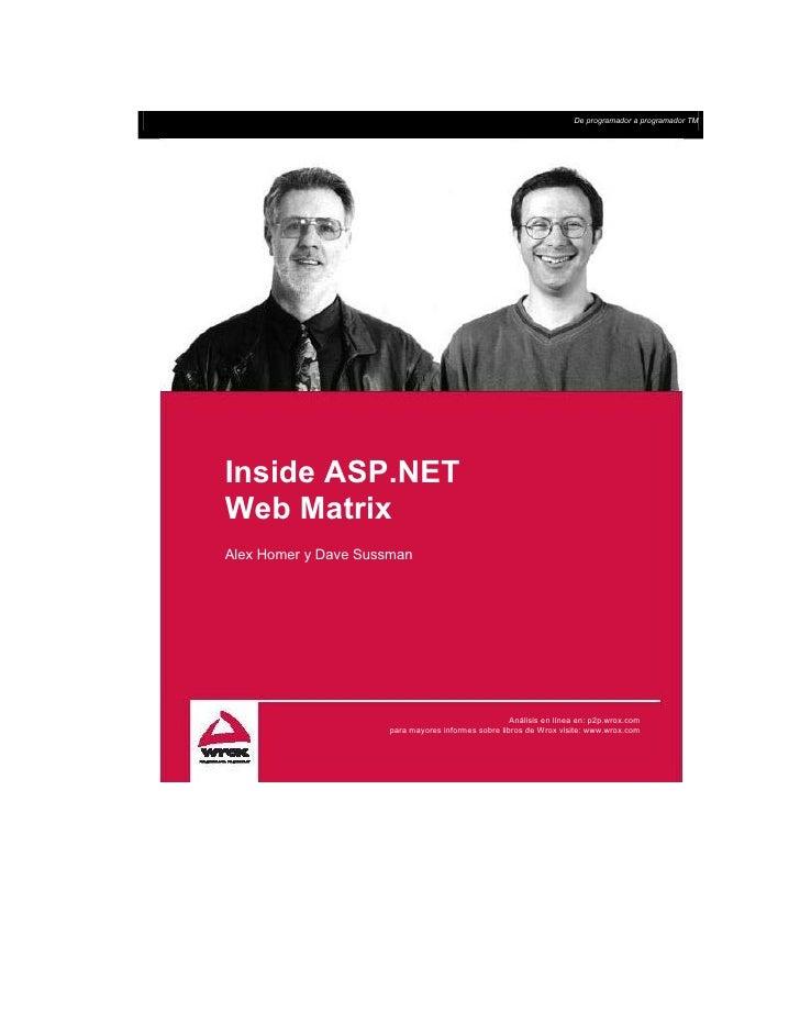 Inside Asp.Net Web Matrix