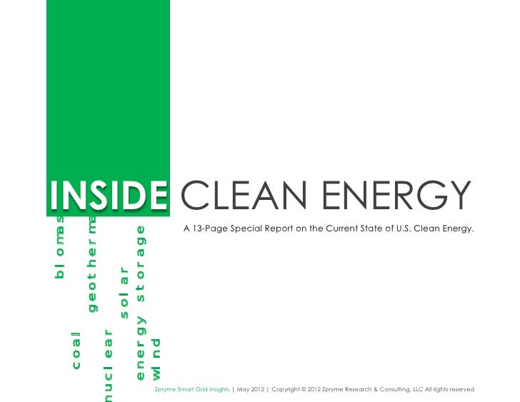 INSIDE CLEAN ENERGYbiomass                 geothermal                                                           A 13-Page ...