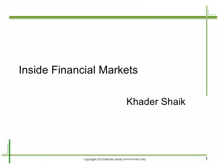 Inside Financial Markets