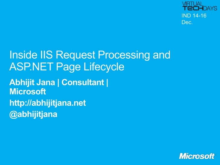  ASP.NET Runtime Engine and Visual Studio Role of a Web Server Key Concepts of IIS IIS and ASP.NET Requests Processing...