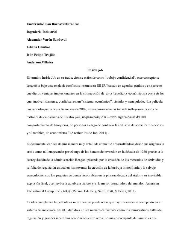 Universidad San Buenaventura CaliIngeniería IndustrialAlexander Varón SandovalLiliana GamboaIván Felipe TrujilloAnderson V...