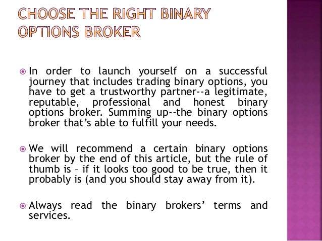 Binary option trading tips