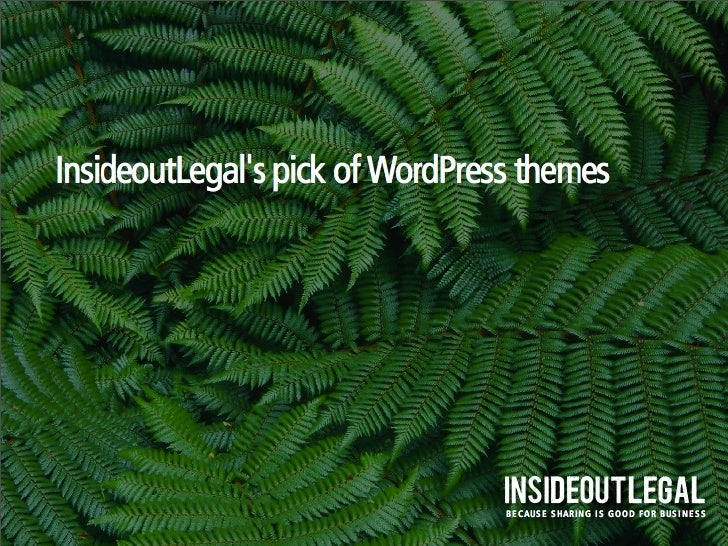 InsideoutLegal's pick of WordPress themes