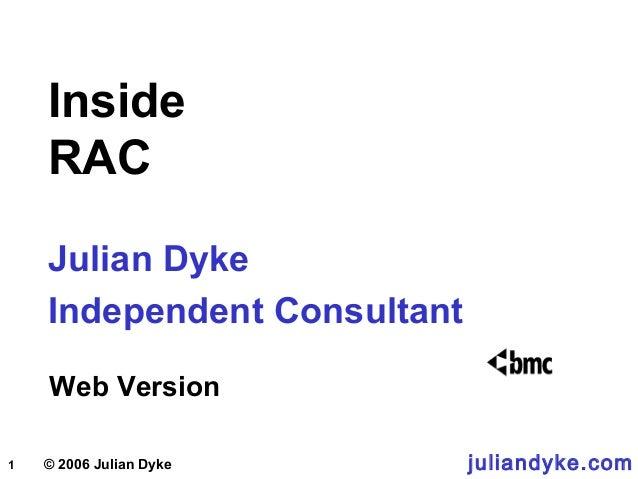 1 © 2006 Julian Dyke Inside RAC Julian Dyke Independent Consultant Web Version juliandyke.com