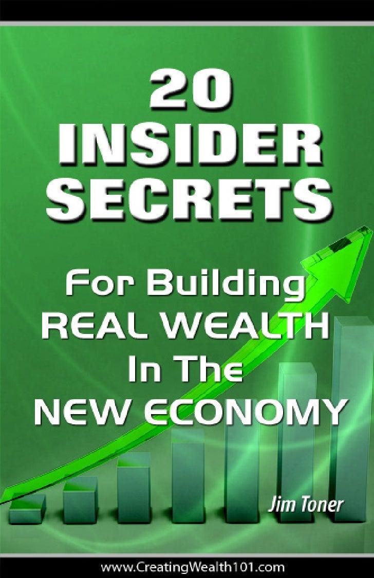 Jim Toners Wealth Builders Insider secrets e-book