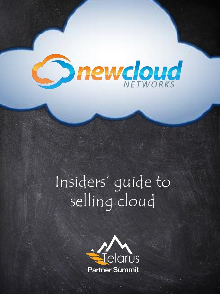 Insiders' guide to  selling cloud