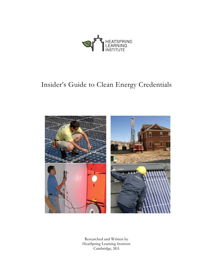 Insider's Guide to Clean Energy Credentials