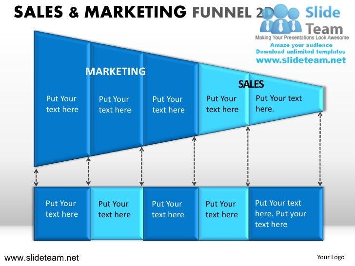 Inside sale and marketing funnel 2d powerpoint presentation slides.