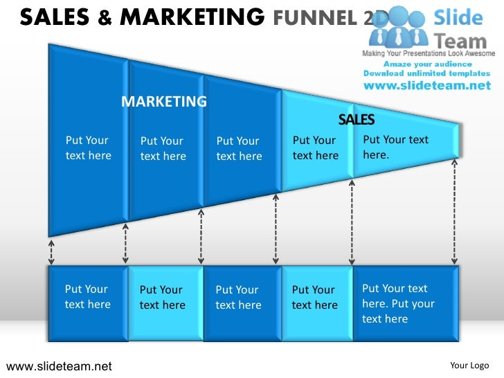 Inside sale and marketing funnel 2d powerpoint presentation templates.