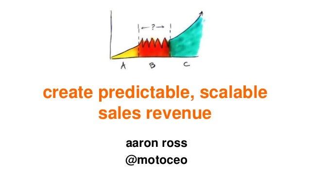 create predictable, scalable sales revenue aaron ross @motoceo