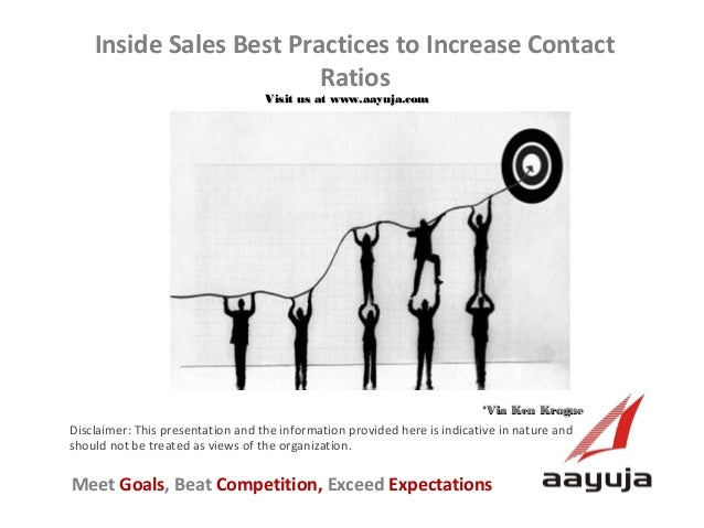 Inside Sales Best Practices to Increase Contact Ratios