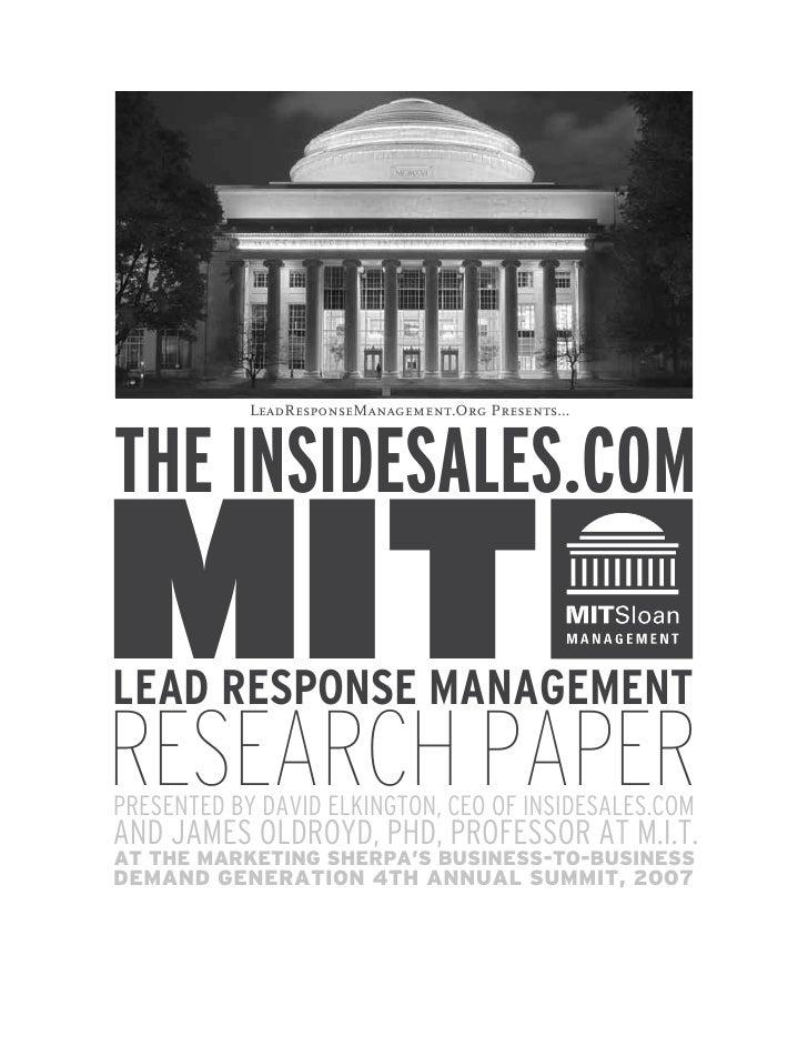 Insidesales Mit