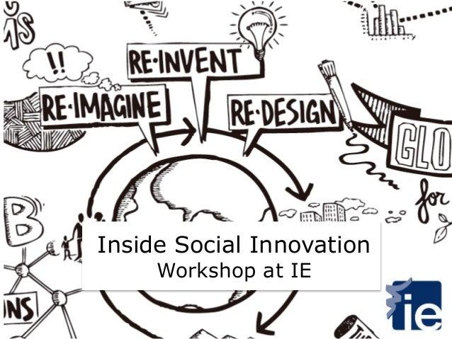 Inside Social Innovation Workshop at IE