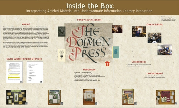 Inside the Box: Incorporating Archival Material into Undergraduate Information Literacy Instruction