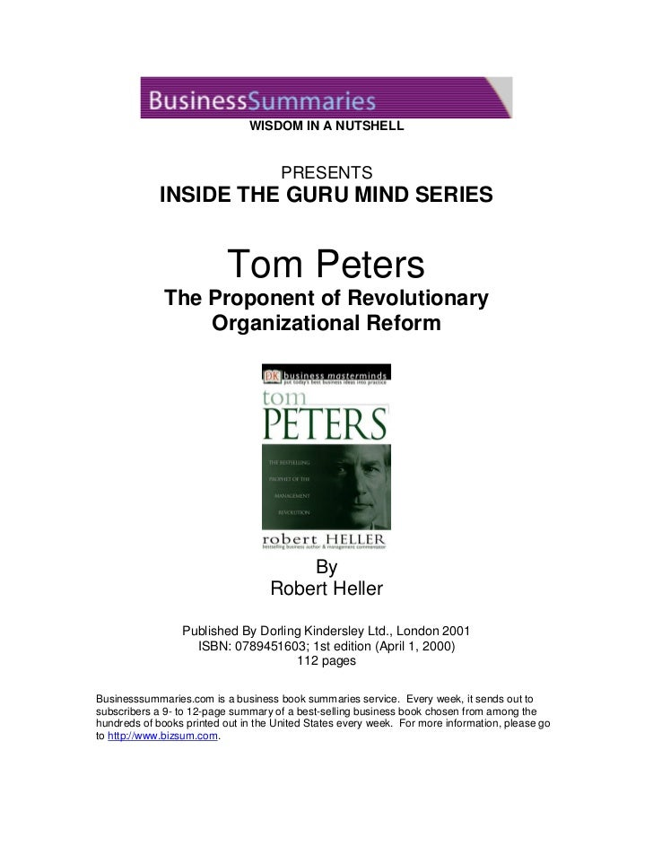 Inside thegurumind tompeters