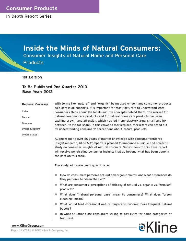 Inside the Minds of Natural Consumers - Brochure