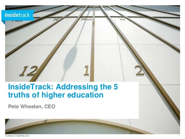 InsideTrack: Addressing the 5 truths of Higher Education