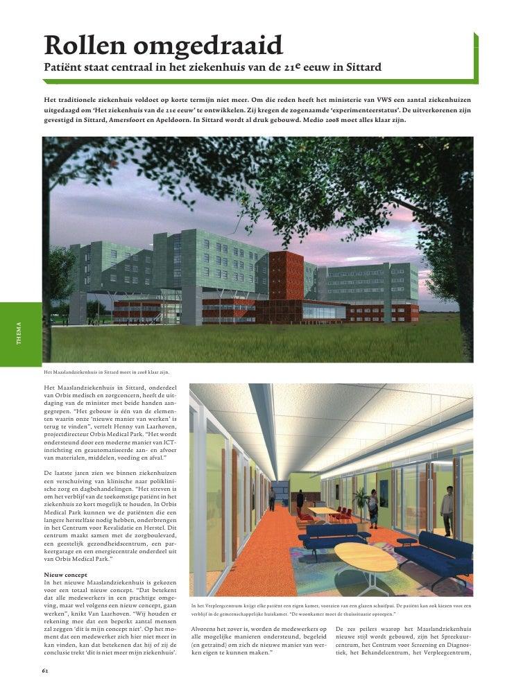 Artikel 'ziekenhuis van de 21e eeuw' vakblad Inside Information.