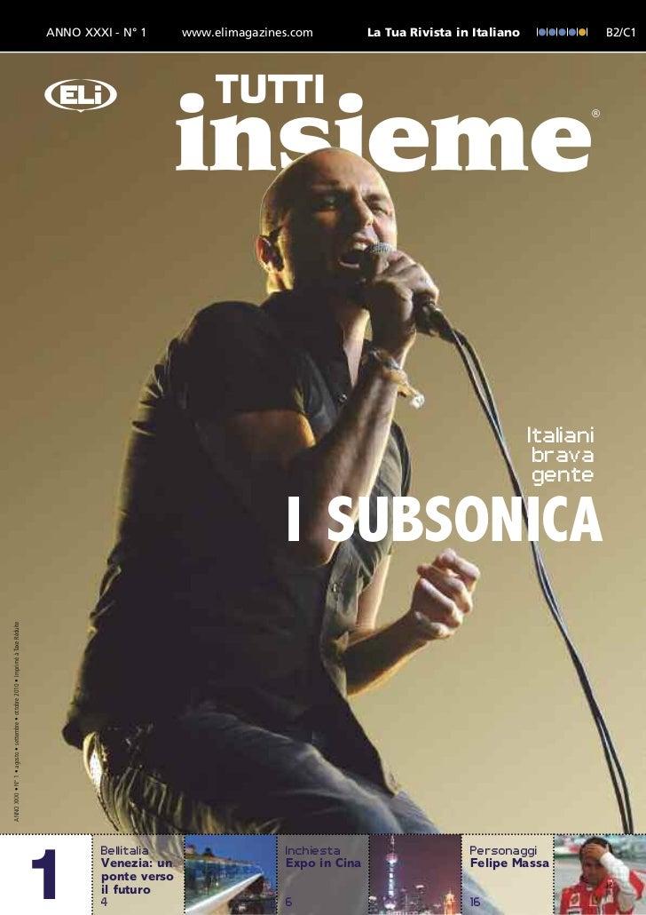 ANNO XXXI - N° 1      www.elimagazines.com          La Tua Rivista in Italiano              B2/C1                         ...