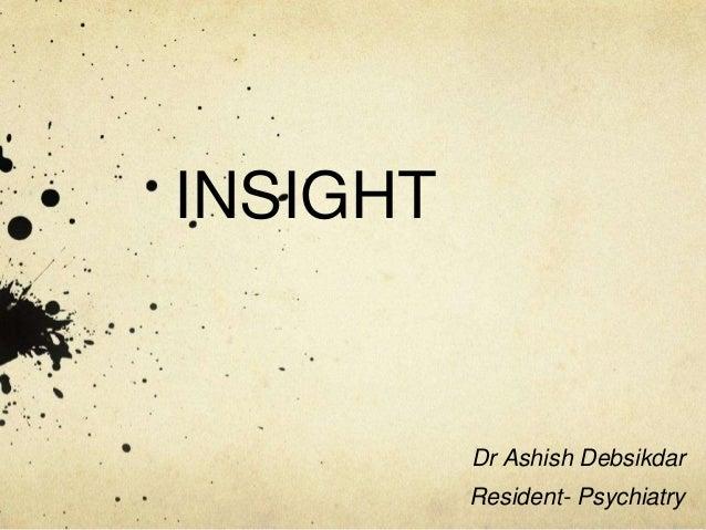 Insight - Psychiatry