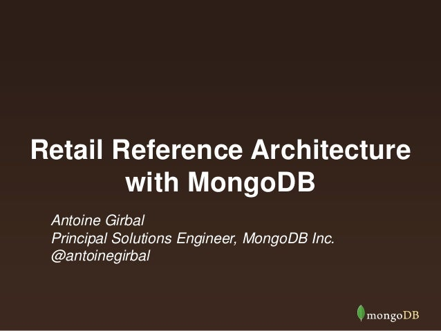 Retail Reference Architecture Part 1: Flexible, Searchable, Low-Latency Product Catalog