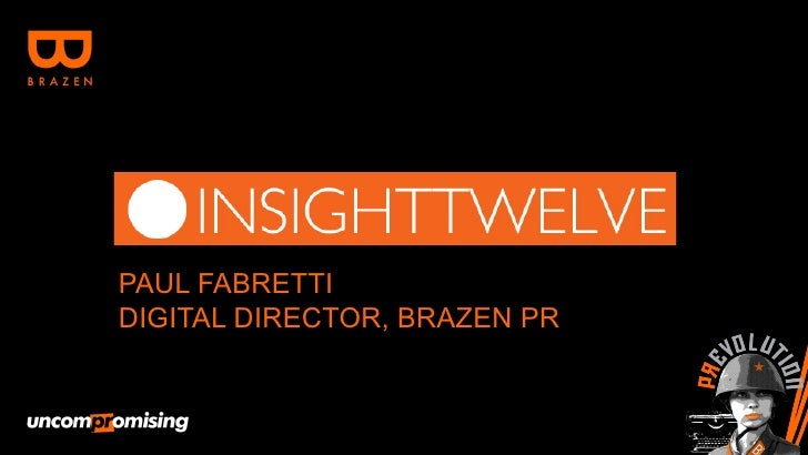 Insight 12  - Digital Predictions for 2012
