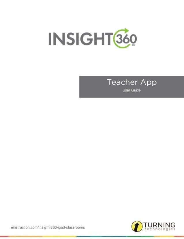 einstruction.com/insight-360-ipad-classrooms Teacher App User Guide