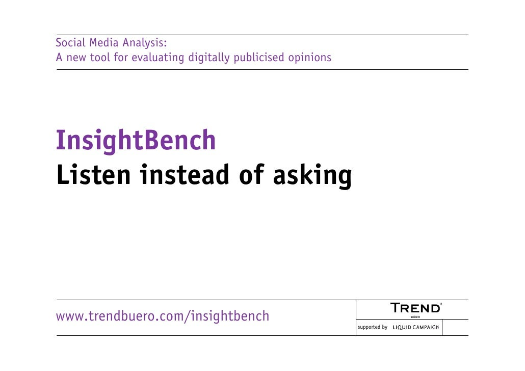 Social media analysis with InsightBench
