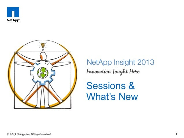 NetApp Insight 2013 Sessions