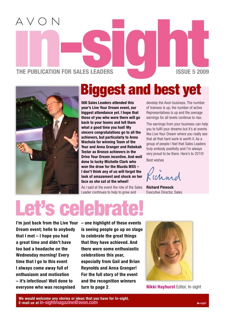 in-sight THE PUBLICATION FOR SALES LEADERS                                        Biggest and best yet                    ...