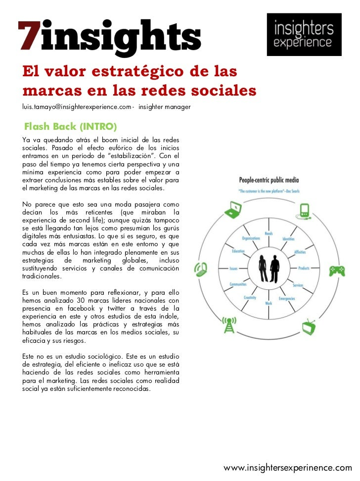 El valor estratégico de lasmarcas en las redes socialesluis.tamayo@insighterexperience.com - insighter managerFlash Back (...