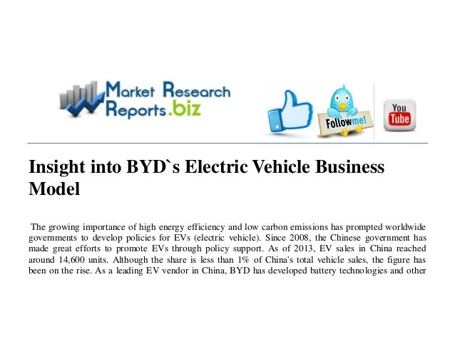 Insight into BYD`s Electric Vehicle Business Model The growing importance of high energy efficiency and low carbon emissio...