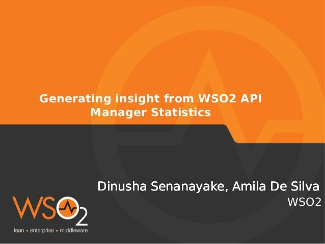 Generating Insights from WSO2 API Manager Statistics