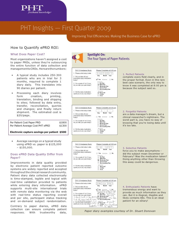 PHT Insights — First Quarter 2009                                               Improving Trial Efficiencies: Making the B...