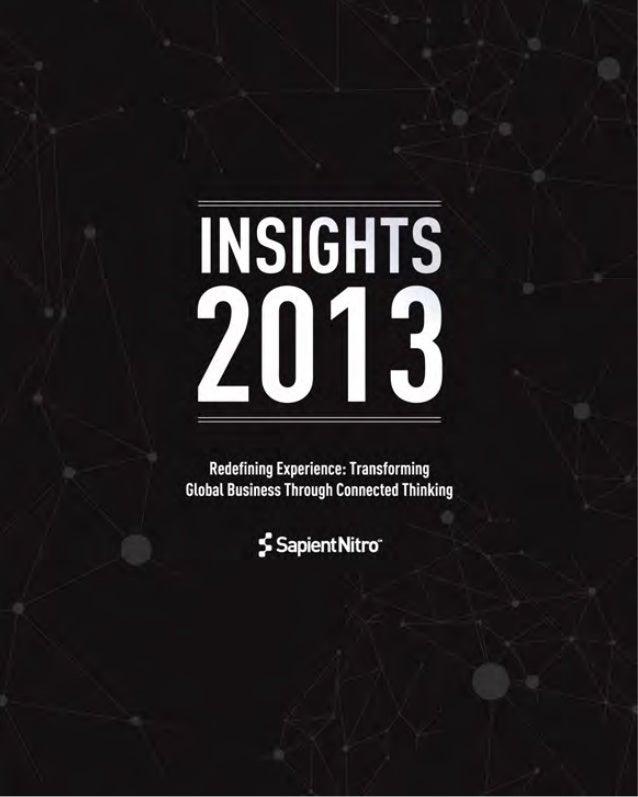 SapientNitro Insights 2013 - Annual Trend Report