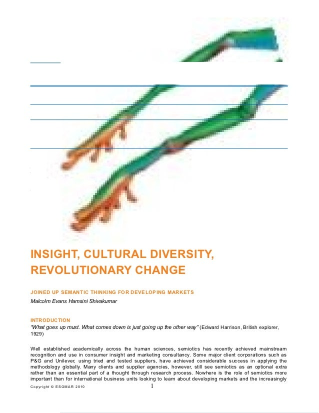 Insights cultural diversity and revolutionary change semiotics in emerging markets