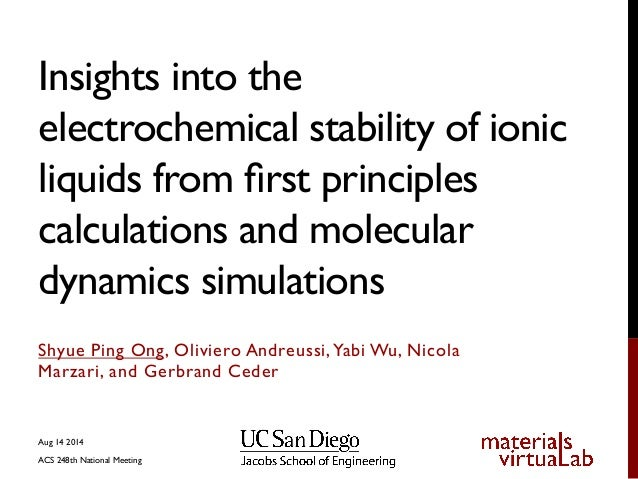 Insights into the electrochemical stability of ionic liquids from first principles calculations and molecular dynamics simulations
