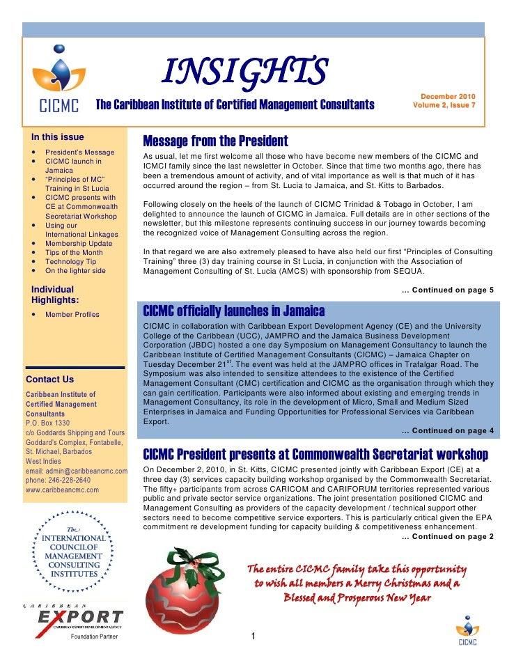 Insights Newsletter December 2010