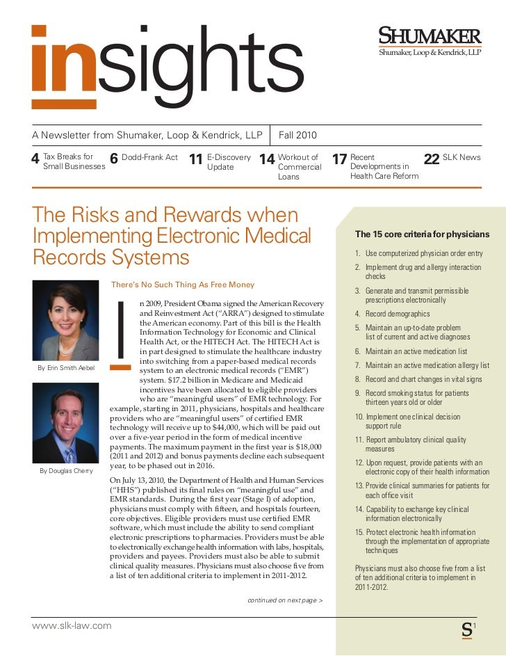 Insights Newsletter Fall 2010