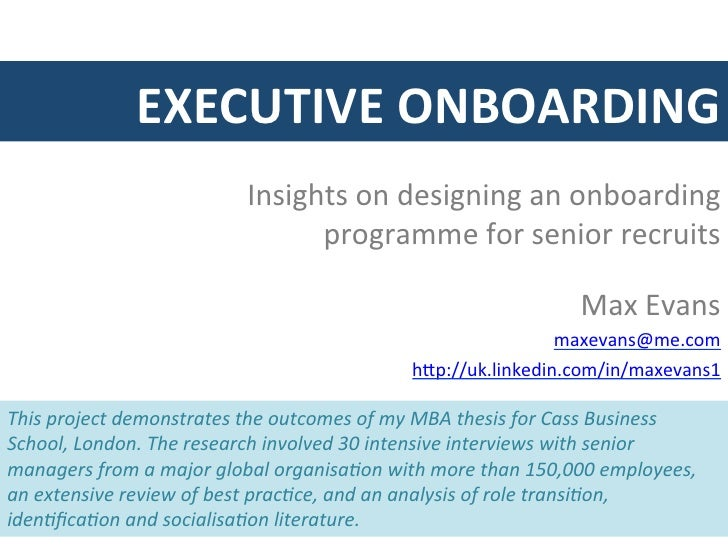 executive onboarding template - insights on executive onboarding max evans